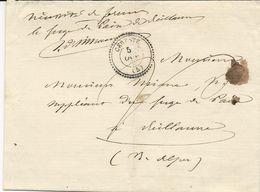 LETTRE EN FRANCHISE POSTALE 1861 AVEC CACHET TYPE 22 DE CERESTE - 1849-1876: Klassik