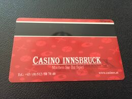 Hotelkarte Clef De Hotel Tarjeta Hotel Room Key  BEST WESTERN PARKHOTEL LEIPZIGERHOF INNSBRUCK  CASINO - Phonecards