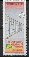 BRASILE - 1990 -XII CAMPIONATO  VOLLEY MASCHILE -  CZ$ 10,00 - MINT MNH** (YVERT 1974 - MICHEL 2370) - Pallavolo