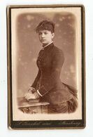 FOTO PHOTO CDV 19 ème SIECLE S. GERSCHEL STRASBOURG - FEMME De PROFIL VESTE + JUPE COIFFURE BANANE- 19 Th CENTURY - Anciennes (Av. 1900)
