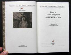 Lithuanian Book / Švelni Naktis Scott Fitzgerald 1997 - Libros, Revistas, Cómics