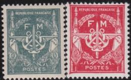 France   .   Y&T   .   Fm 11/12   .    **    .    Neuf Avec Gomme Et SANS Charniere   .   / .    MNH - Franchise Stamps