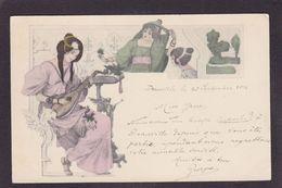 CPA Type VIENNE Viennoise Femme Girl Woman Circulé Sans éditeur Art Nouveau - Vienne