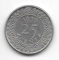 *suriname 25  Cents 1976  Km 14   Xf - Suriname 1975 - ...