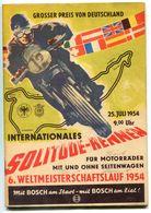 """F0392 - Programmheft """"Int. Solitude-Rennen Für Motorräder"""" Juli 1954 (Motorrad / Motorbike) - Deportes"""