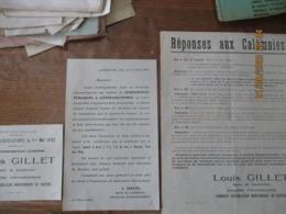 ELECTIONS LEGISLATIVES DU 1er MAI 1932 3ème CIRCONSCRIPTION D'AVESNES LOUIS GILLET MAIRE DE LANDRECIES 2 TRACTS ET 1 BUL - Historical Documents
