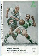 """F0396 - Programmheft """"Fußball-Länderspiel Deutschland-Italien"""" Stuttgart 1955 (Football / Soccer) - Other"""