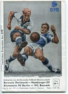 """F0397 - Programmheft """"Endspiele Deutsche Meisterschaft 1957"""" In Hannover (BVB, HSV, VfL Benrath, Alemannia 90 Berlin) - Other"""