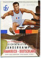 """F0399 - Programmheft """"Leichtathletik-Länderkampf Frankreich-Deutschland"""", Hannover 1955 - Athlétisme"""