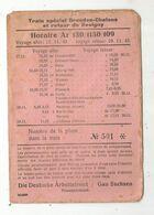 Ticket De Train,1943 , Train Spécial Dresden-Chalons,retour De Revigny , Pour Permissionaire , Frais Fr 1.65 E - Chemins De Fer