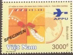 Vietnam Viet Nam MNH SPECIMEN Stamp 2012 : 50th Anniversary Of APPU / Space (Ms1017) - Vietnam