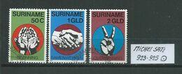 SURINAM MICHEL SATZ 923 - 925 Gestempelt Siehe Scan - Suriname