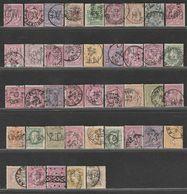 Belgique. Roi Léopold II. Entre N°28 & 52.  41 Perfins Différents. - Unclassified