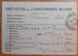 Carte Lettre Pour La Correspondance Militaire.artillerie Lourde 1914.G 6 /24 - 1914-18