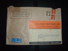 LETTRE Pour La FRANCE TP MACHIN 10P Paire + 4P OBL.16 OCT 75 ASHFORD + HEADLEY BROTHERS - Covers & Documents
