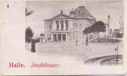 Sehr Seltene ALTE  Mini- AK   HALLE A. S. / Sachsen-Anhalt  - Stadttheater -  Ca. 1900 - Halle (Saale)