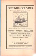 Publicité-Oostende-Ostende-Dover-Douvres-Navire Prince Baudouin-1934-Prins Albert-1937-Loterie Coloniale*Congo Belge - Publicités