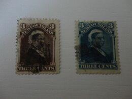 TIMBRE DE TERRE NEUVE N°37 Et 42 OBLITERES - Stamps