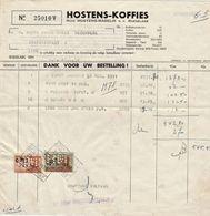 "Belgique. Facture ""Huis Hostens - Maselis N.V."", Perfin ""HM"" - Unclassified"