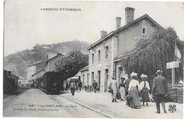 LE CHEYLARD , Le Train En Gare - Le Cheylard