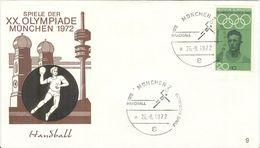 GERMANY 1972 Olympic Games In Munich Olympic With Cancel Handball München 2 - Pallamano