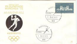 GERMANY 1972 Olympic Games In Munich Olympic With Cancel Handball Augsburg 1 - Pallamano