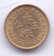 HONG KONG 1967: 5 Cents, KM 29.1 - Hong Kong