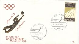 GERMANY 1972 Olympic Games In Munich Olympic With Cancel Handball Böblingen 1 - Pallamano