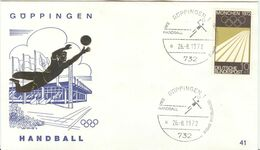 GERMANY 1972 Olympic Games In Munich Olympic With Cancel Handball Göppingen 1 - Pallamano