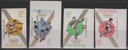 JO64/E38 - PHILIPINES 4 Val. Non-dentelés Neufs** Jeux Olympiques De Tokyo 1964 - Filipinas