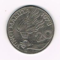 //  ZAIRE  20  MAKUTA  1973 - Zaire (1971 -97)