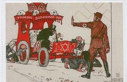 DC2729 - WW2 Germany Propaganda Postcard - Judaica Jude Die Bremse Thorah Schebeal Peh REPRO - Guerre 1939-45