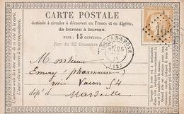 France Entier Postal Précurseur Arles-s-Rhône 1875 - Enteros Postales
