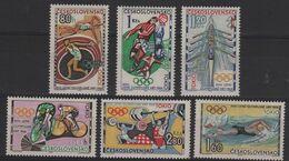 JO64/E39 - TCHECOSLOVAQUIE N° 1354/59 Neufs** Jeux Olympiques De Tokyo 1964 - Czechoslovakia