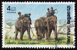 Thailand Stamp 1974 Elephant Round-up - Used - Tailandia