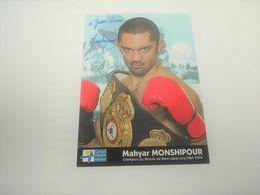 Photo Boxe  Signé Par MAHYAR MONSHIPOUR , Authographe Dédicasse Signature - Photographie