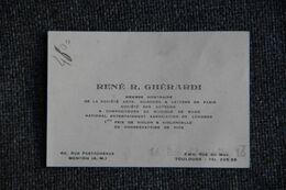 Carte De Visite De René R. GHERARDI, 1er Prix De Violon Et Compositeur. - Visiting Cards