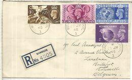 REINO UNIDO 1948 CC CERTIFICADA FDC  JUEGOS OLIMPICOS DE LONDRES LONDON OLYMPIC GAMES - Summer 1948: London
