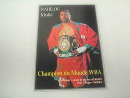 Photo Boxe  Signé Par KAHILOU KHALID , Authographe Dédicasse Signature - Photographie