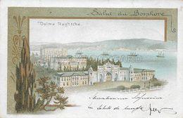 OLD  POSTCARD -  LITHO - TURKEY -  SALUT DU BOSPHORE - VIAGGIATA 1899 - U58 - Türkei