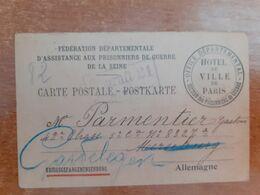 Carte Postale Assistance Aux Prisonniers De Guerre.... G14/24 - 1914-18