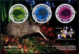 New Zealand 2018 Birds Kiwi World Stamp Exhibition In Thailand SS MNH - Kiwi