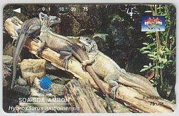 Indonesien - IND 333 Tamura  Indonesia Wildlife 1996 (2) Echsen 75 Units - Indonesia