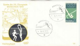 GERMANY 1972 Olympic Games Munich Olympic Cancel Volleyball München 2 - Pallavolo