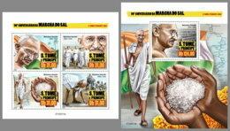 SAO TOME 2020 MNH Mahatma Gandhi Salt March Salzmarsch Marche Du Sel M/S+S/S - OFFICIAL ISSUE - DHQ2029 - Mahatma Gandhi