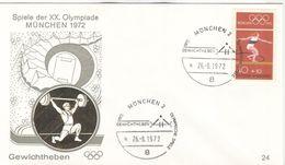 GERMANY 1972 Olympic Games Munich Olympic Cancel Weightlifting München 2 - Pesistica