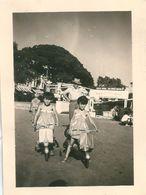 Photo Originale Vespa Pour Enfants Golfe Juan 1955 - Ciclismo