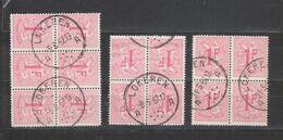 COB 859 En Blocs Oblitéré LOKEREN - 1951-1975 Heraldic Lion