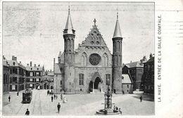 Pays Bas Den Haag La Haye Entrée De La Salle Comtale Tram Tramway + Timbre Cachet Gravenhage 1907 - Den Haag ('s-Gravenhage)