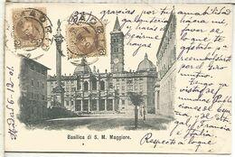 POSTAL ROMA CON MAT MADRID 1901 A SEVILLA FRANQUEO 4 CTS SELLOS CADETE ALFONSO XIII - 1889-1931 Royaume: Alphonse XIII